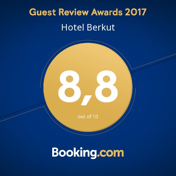 Средняя оценка на Booking.com в 2017 году