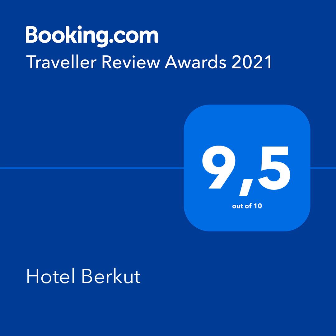 Средняя оценка на Booking.com в 2020 году